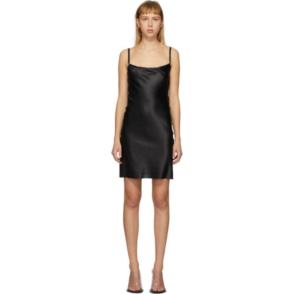 アンドゥムルメステール Ann Demeulemeester レディース ワンピース スリップドレス ワンピース・ドレス【black silk bleary slip dress】Black