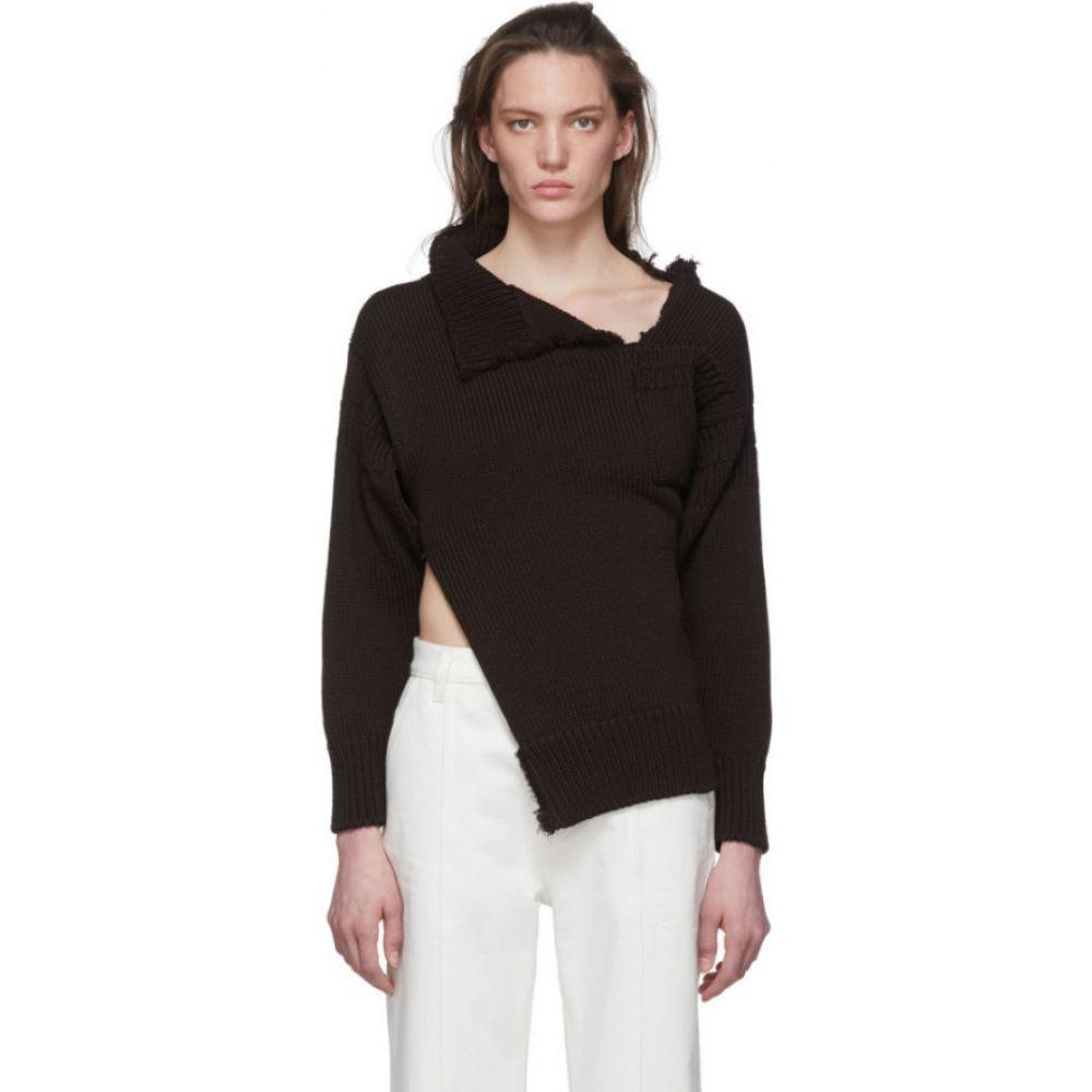 マルニ Marni レディース ニット・セーター トップス【black look 26 distressed knit sweater】Black
