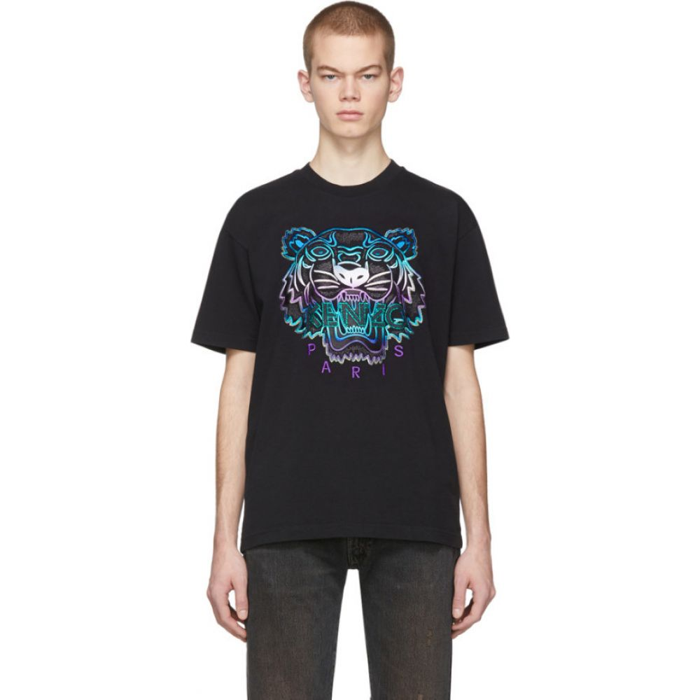 ケンゾー Kenzo メンズ Tシャツ トップス【black limited edition holiday tiger t-shirt】Black