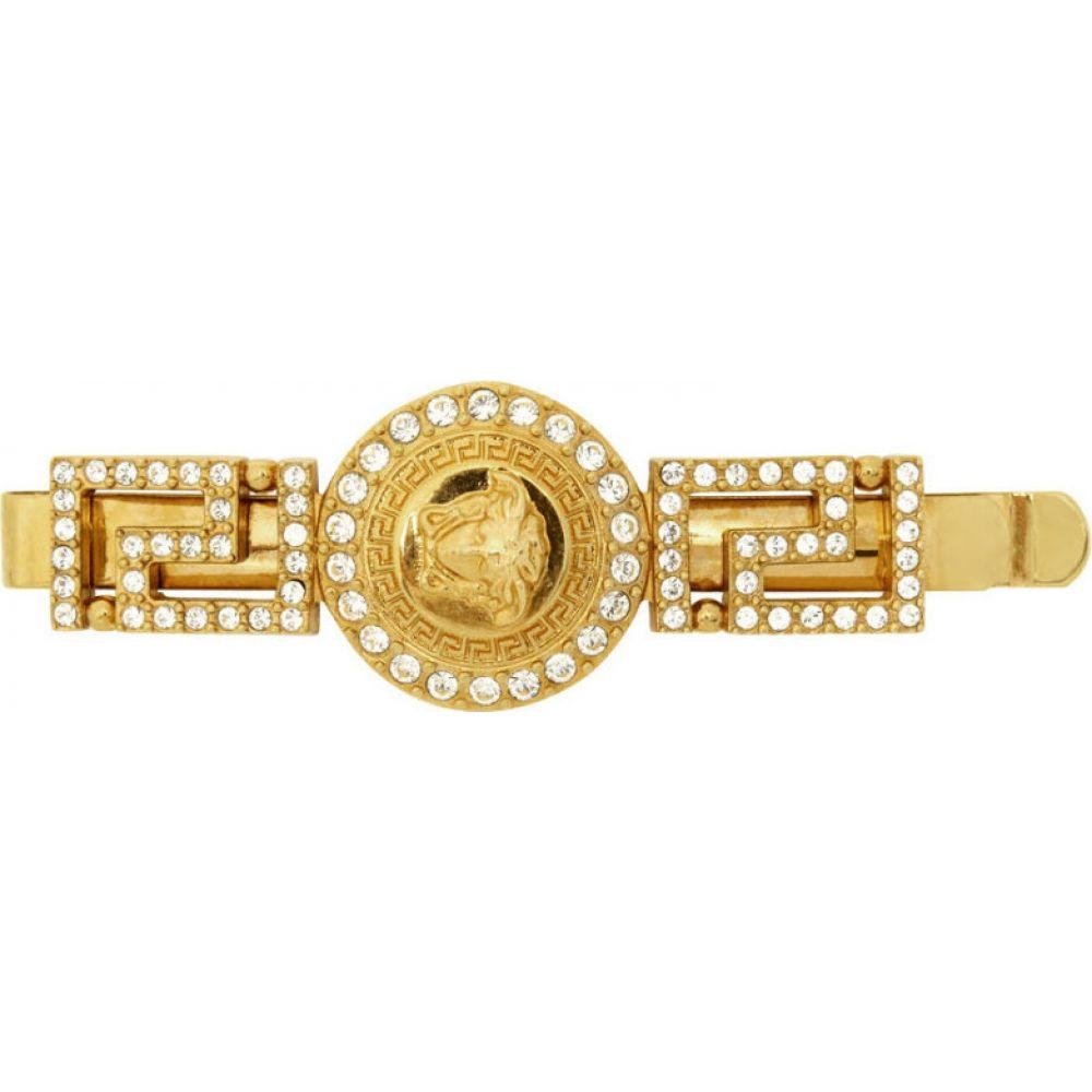 ヴェルサーチ Versace レディース ヘアアクセサリー メデューサ【gold crystal empire medusa barette】Gold