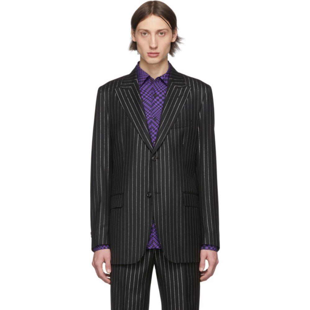 コブラ S.C. Cobra S.C. メンズ スーツ・ジャケット アウター【black metallic pinstripe peaked lapel blazer】Metallic pinstripe
