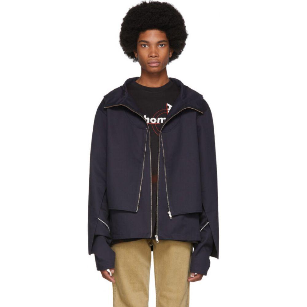 アフターホームワーク Afterhomework メンズ ジャケット アウター【black rod double jacket】Black