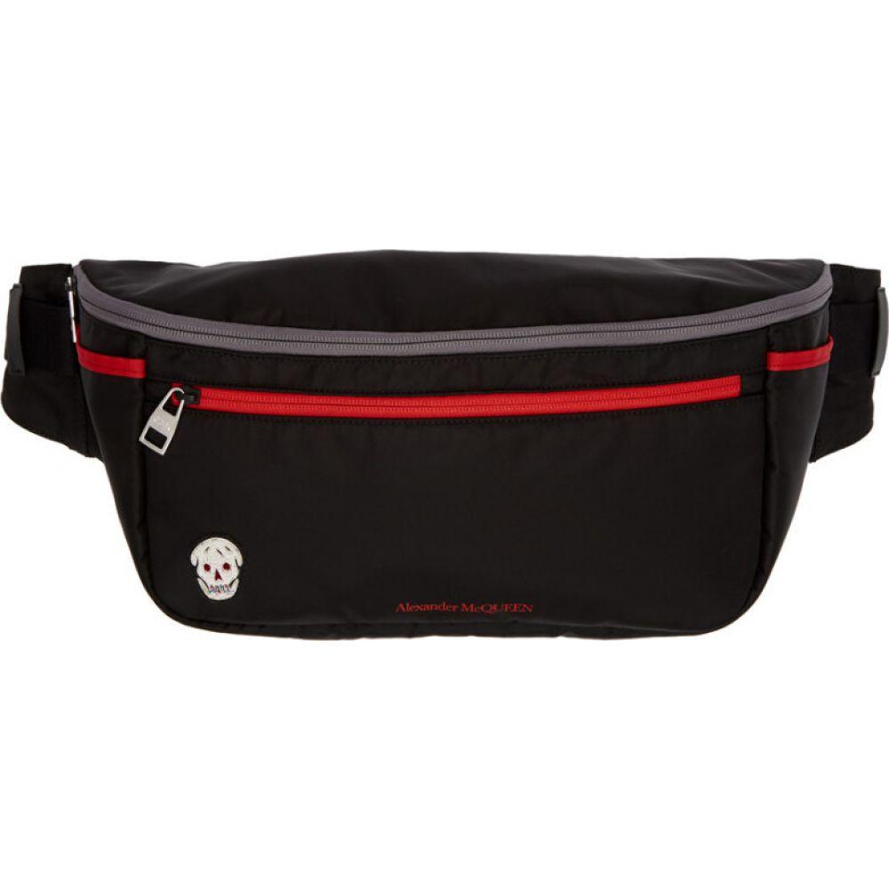 アレキサンダー マックイーン Alexander McQueen メンズ ボディバッグ・ウエストポーチ バッグ【black & red double zip bum bag】Black/Lust red
