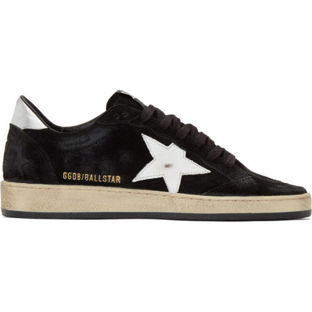 ゴールデン グース Golden Goose メンズ スニーカー シューズ・靴【black & silver suede ball star sneakers】Black/Silver/White