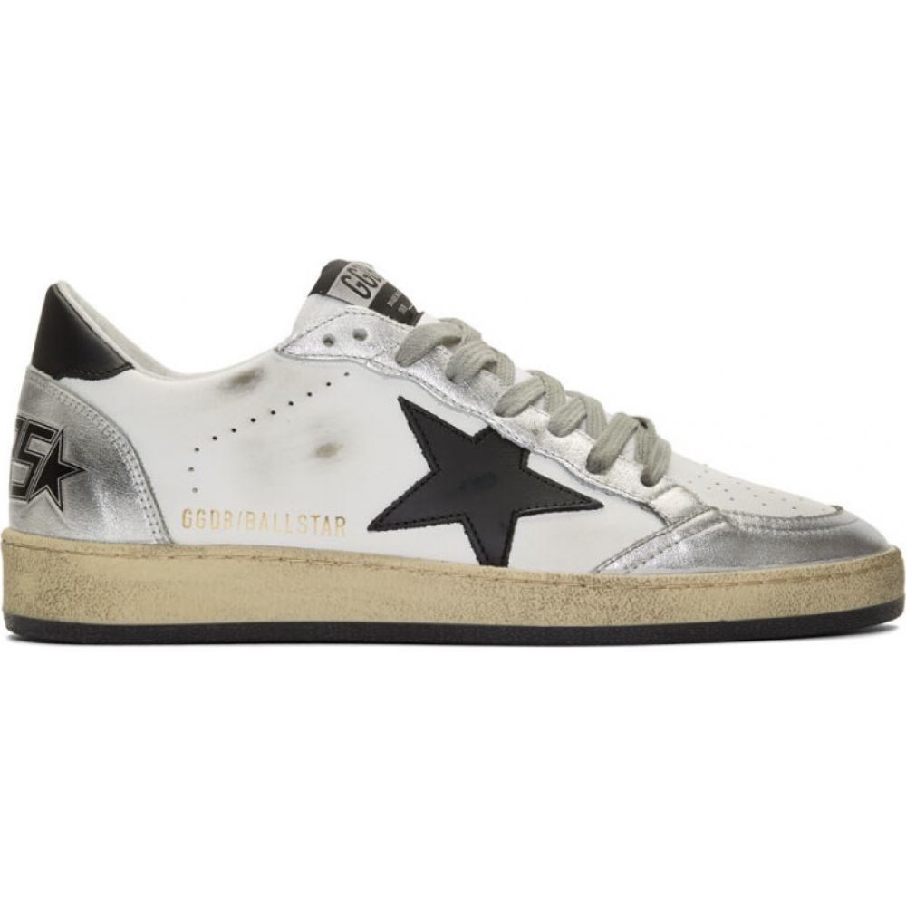 ゴールデン グース Golden Goose メンズ スニーカー シューズ・靴【white & silver ball star sneakers】White/Silver/Black