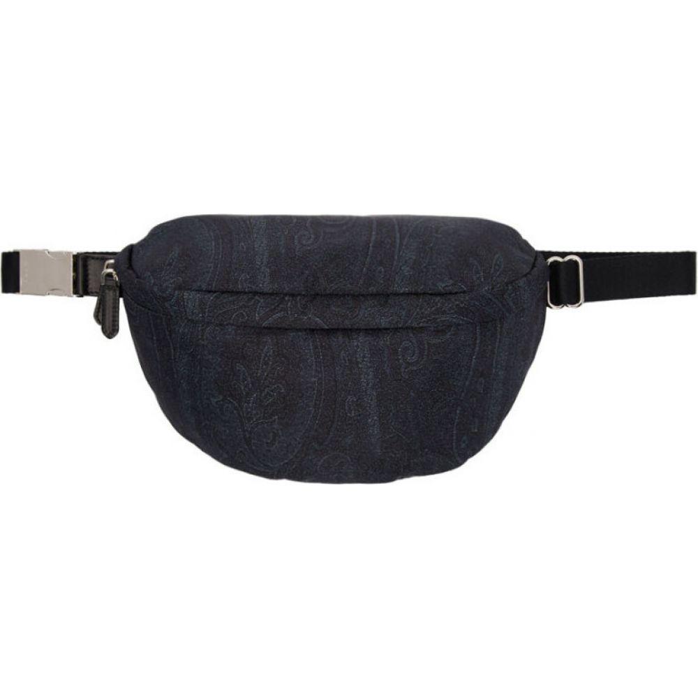 エトロ Etro メンズ ボディバッグ・ウエストポーチ バッグ【blue paisley belt bag】Blue