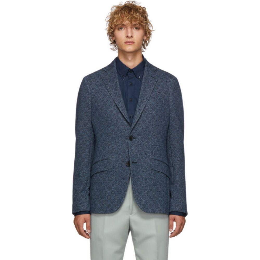 エトロ Etro メンズ スーツ・ジャケット アウター【blue morbida regular fit blazer】Blue