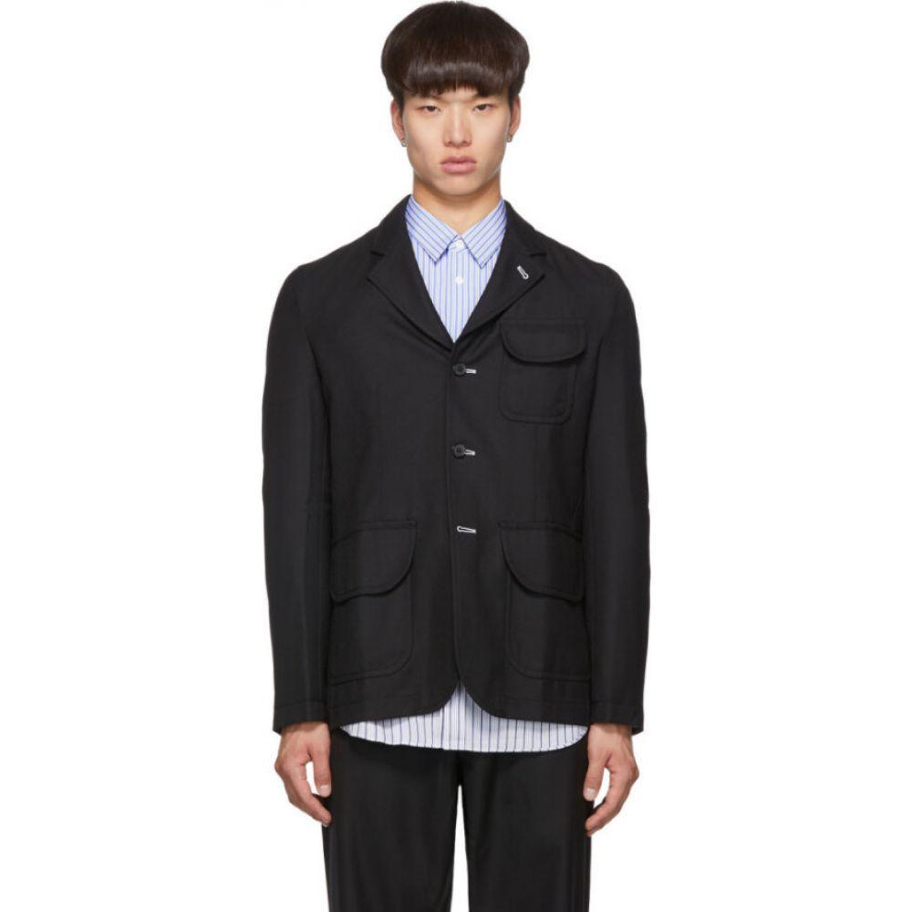 コム デ ギャルソン Comme des Garcons Shirt メンズ スーツ・ジャケット アウター【black wool gabardine blazer】Black