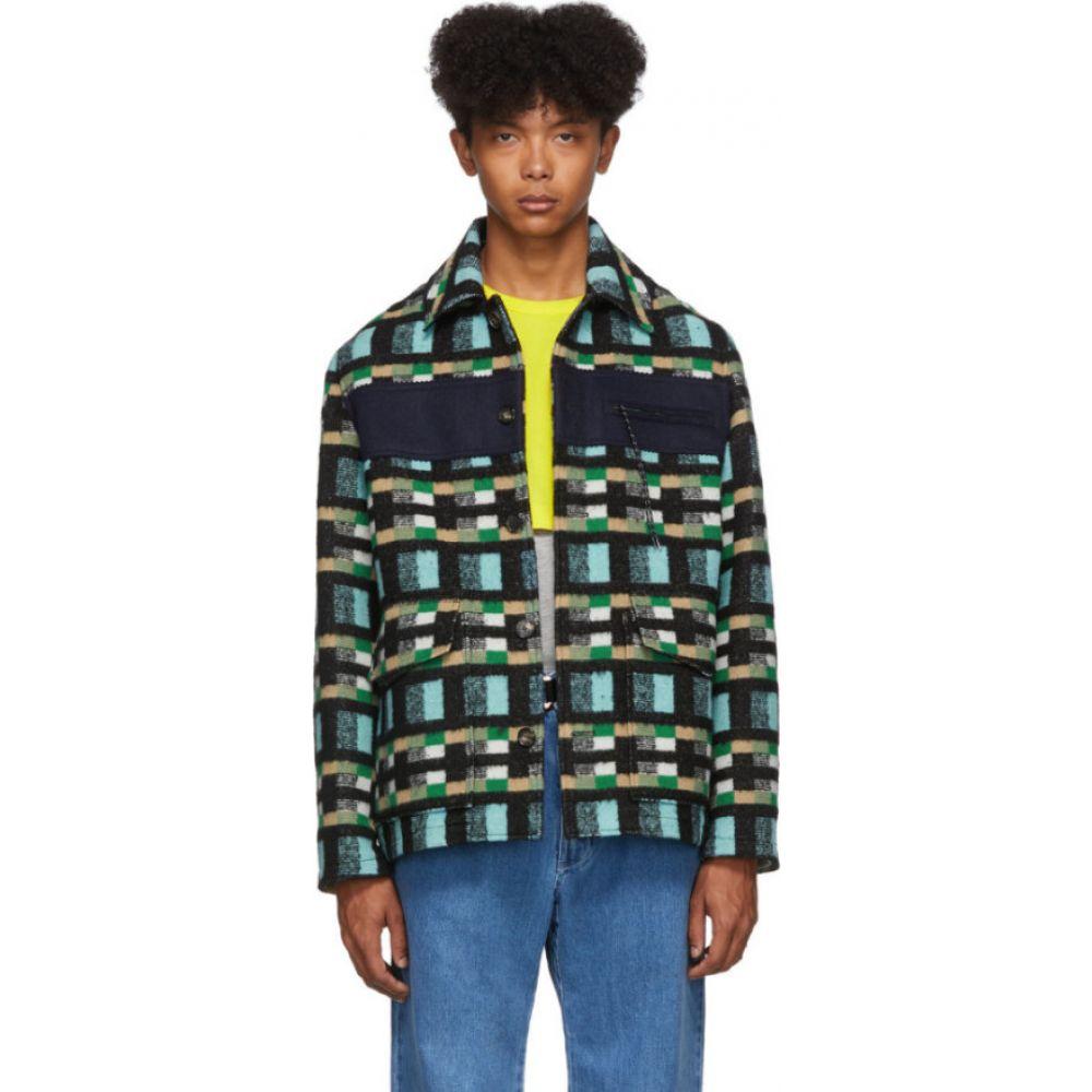 ケンゾー Kenzo メンズ ジャケット アウター【blue & green outdoor jacket】Cyan
