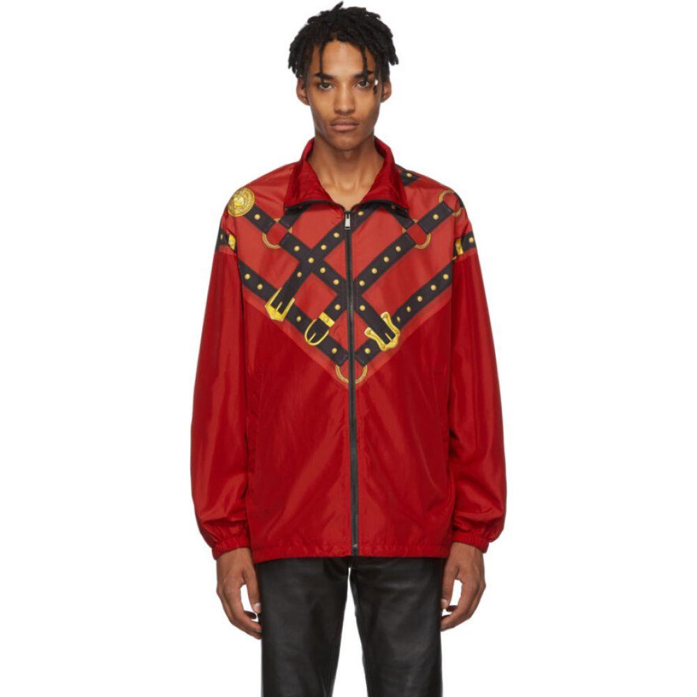ヴェルサーチ Versace メンズ ジャージ アウター【red bondage track jacket】Red