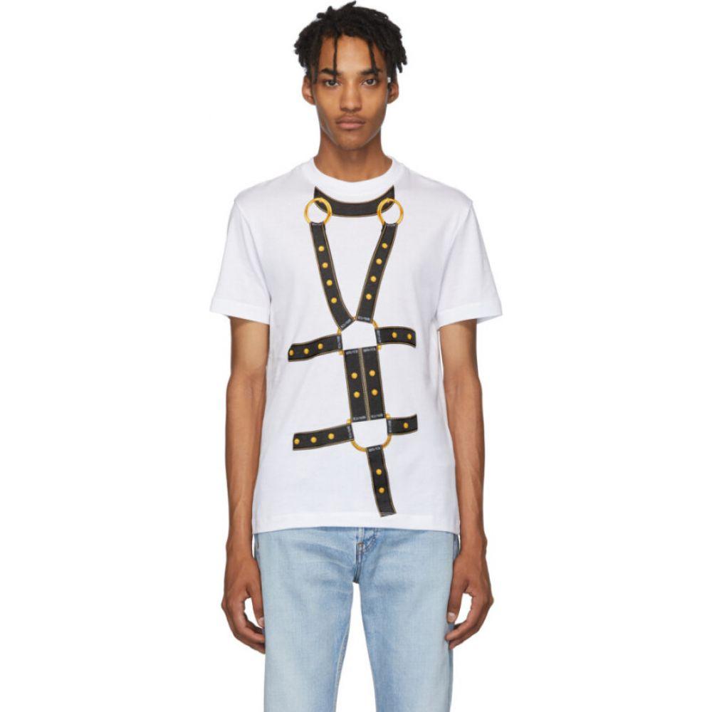 ヴェルサーチ Versace メンズ Tシャツ トップス【white bondage t-shirt】White