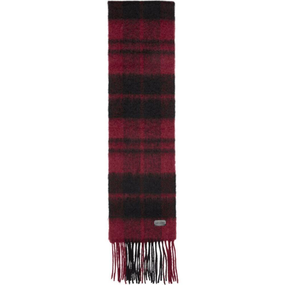 イヴ サンローラン Saint Laurent メンズ マフラー・スカーフ・ストール 【red & black plaid small scarf】Red/Black