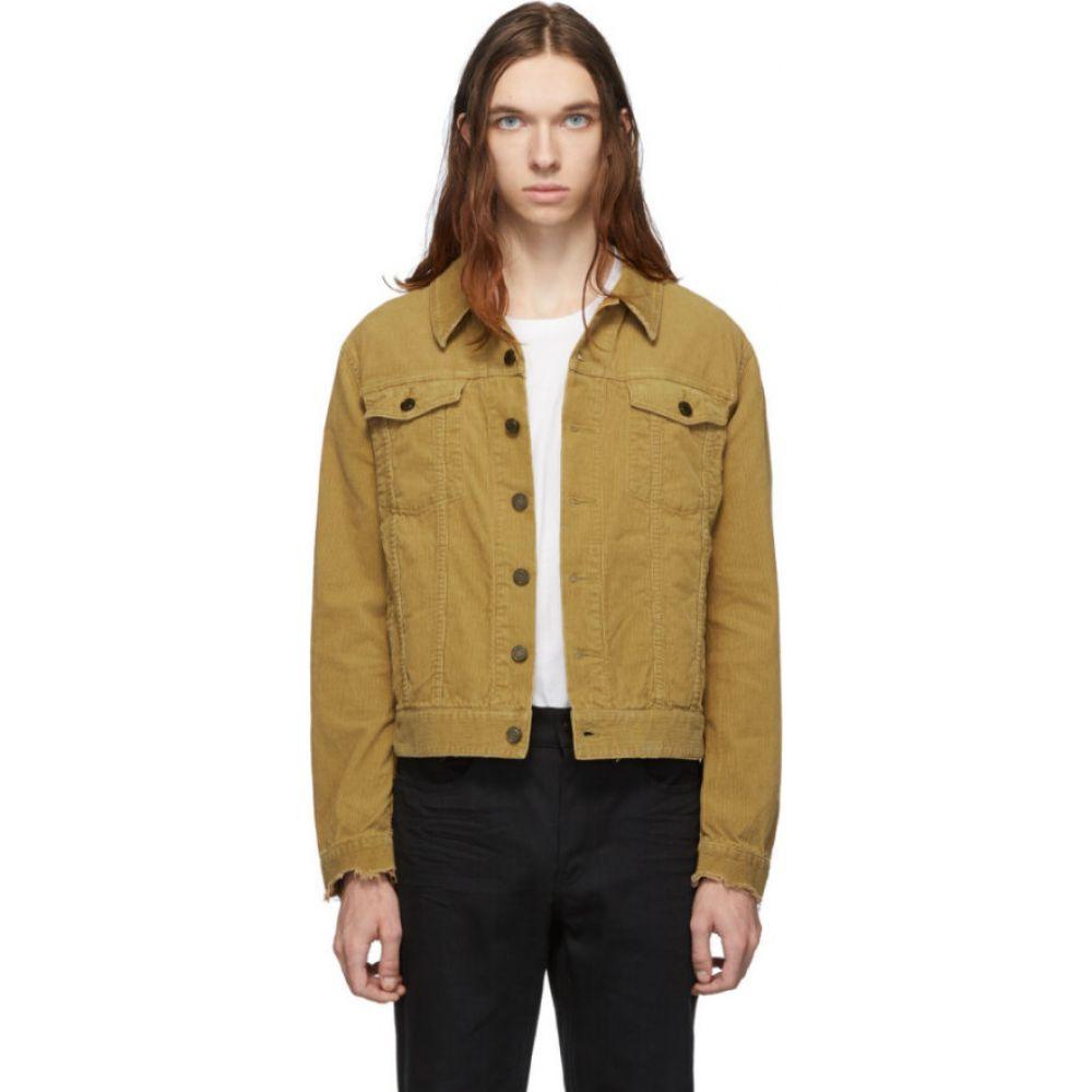 イヴ サンローラン Saint Laurent メンズ ジャケット アウター【tan corduroy classic jacket】Beige stone washed