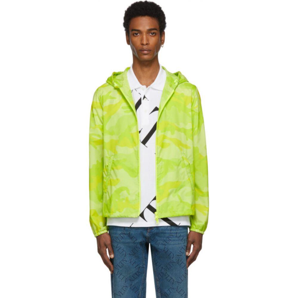 ヴァレンティノ Valentino メンズ ジャケット アノラック アウター【green camo anorak jacket】Camouflage green