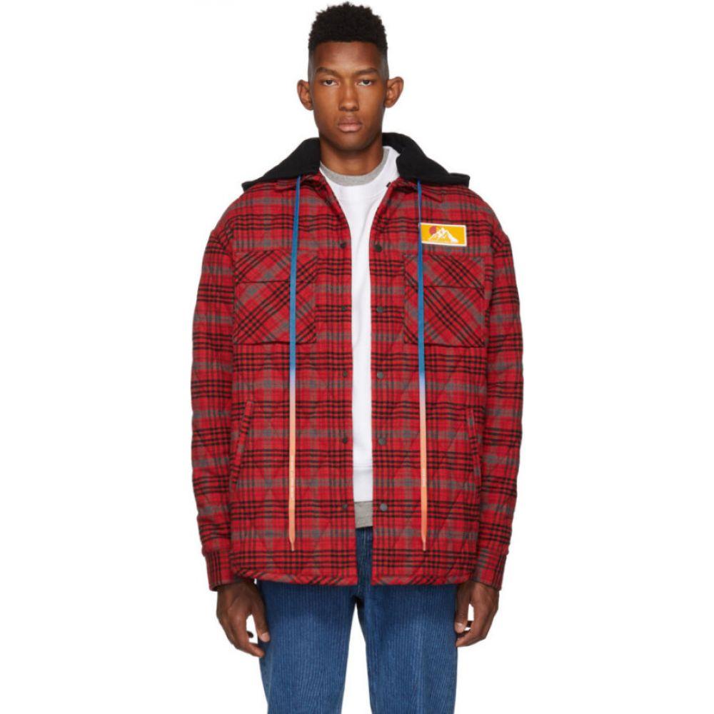 オフホワイト Off-White メンズ ジャケット オーバーシャツ フランネルシャツ シャツジャケット アウター【red check flannel over shirt jacket】Red/No color