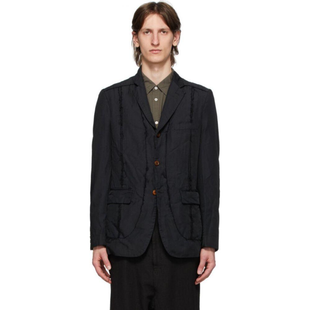 コム デ ギャルソン Comme des Garcons Homme Deux メンズ スーツ・ジャケット アウター【black twill garment-dyed blazer】Black
