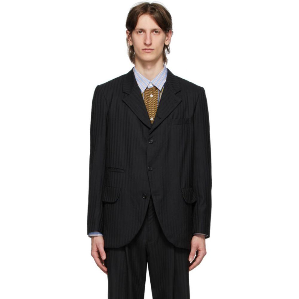 コム デ ギャルソン Comme des Garcons Homme Deux メンズ スーツ・ジャケット アウター【black shadow stripe blazer】Black