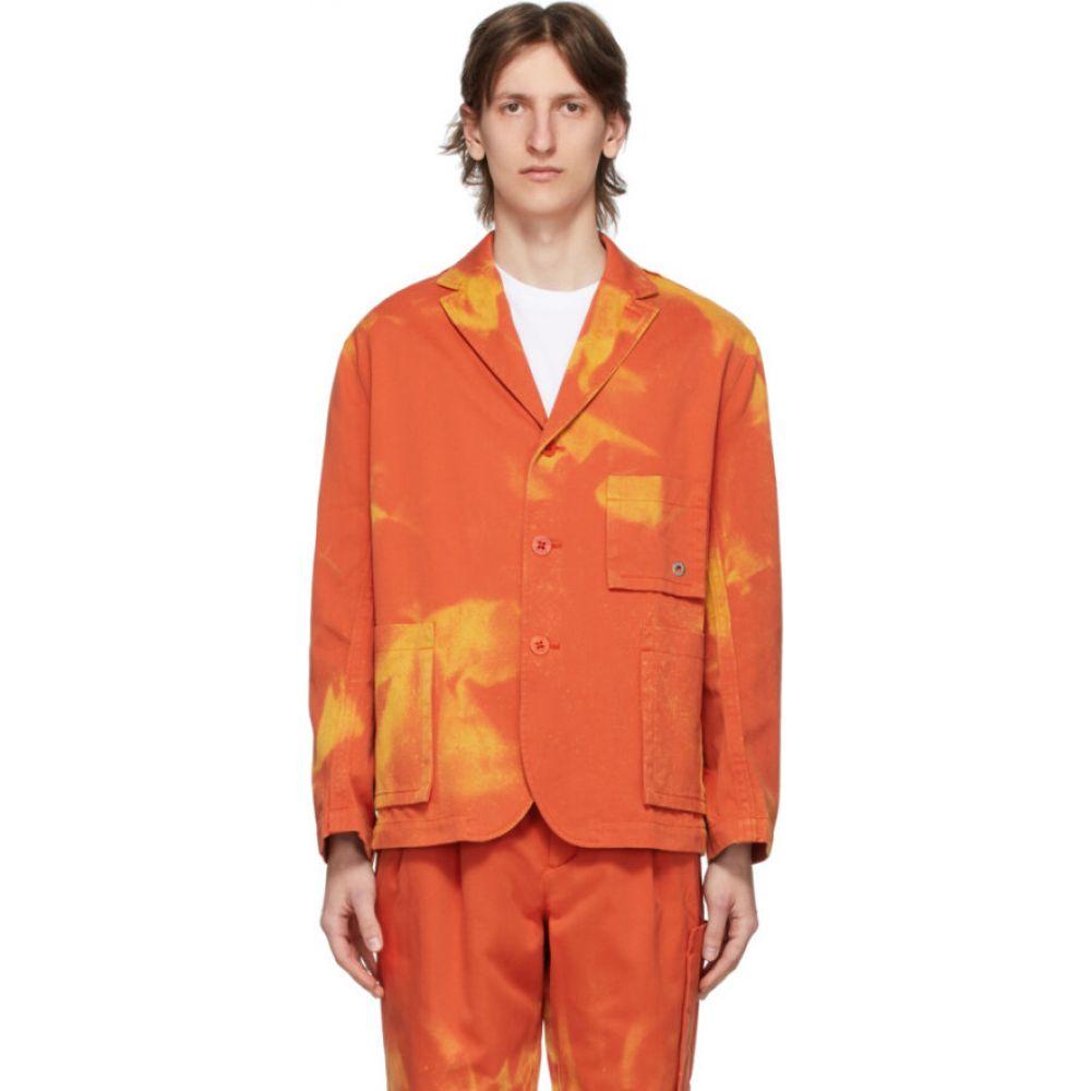 エチュード Etudes メンズ ジャケット アウター【orange bleached jacket】Orange