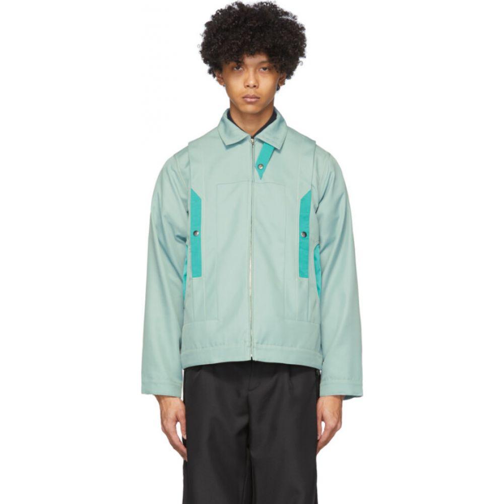 キコ コスタディノフ Kiko Kostadinov メンズ ジャケット アウター【green tulcea tailored jacket】Jadeite green/Persian Green