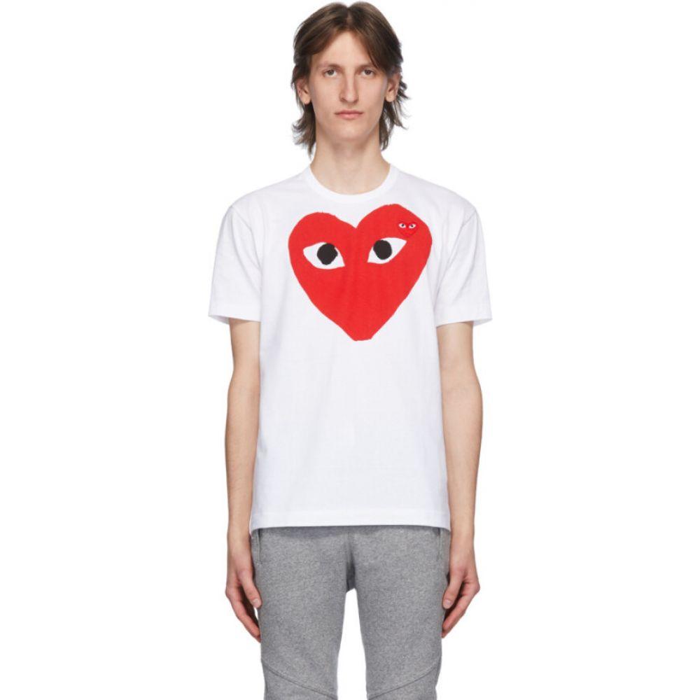 コム デ ギャルソン Comme des Garcons Play メンズ Tシャツ トップス【white & red big heart t-shirt】White