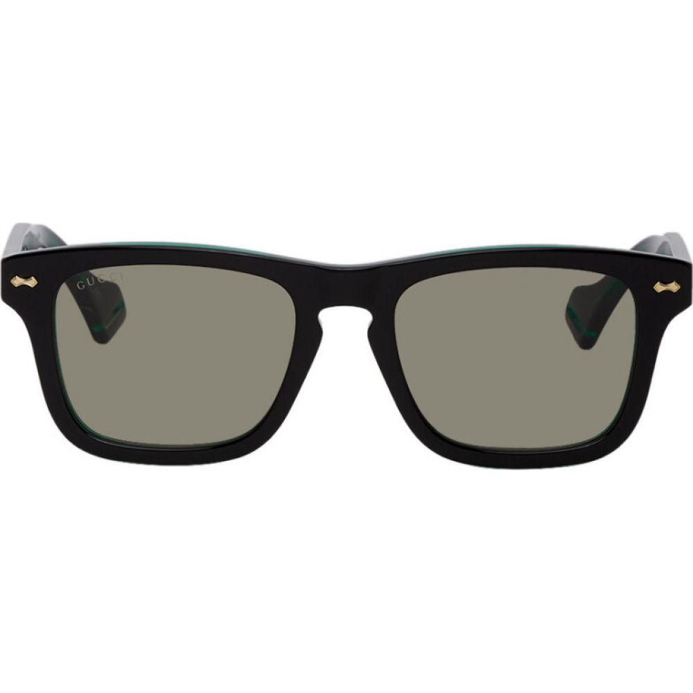 グッチ Gucci メンズ メガネ・サングラス 【black & green gg0735s sunglasses】Black