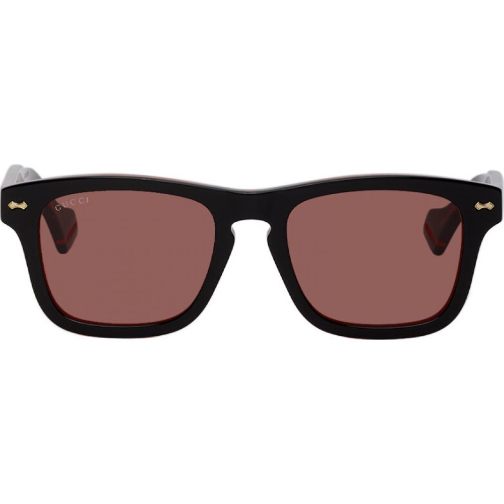 グッチ Gucci メンズ メガネ・サングラス 【black & red gg0735s sunglasses】Black
