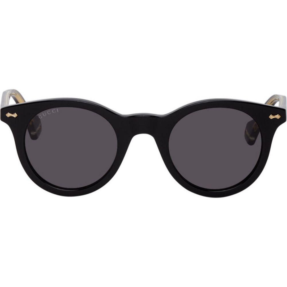 グッチ Gucci メンズ メガネ・サングラス ラウンド【black round sunglasses】Black