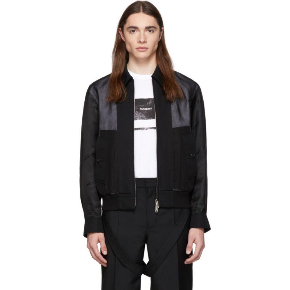 バーバリー Burberry メンズ ジャケット アウター【black double layered jacket】