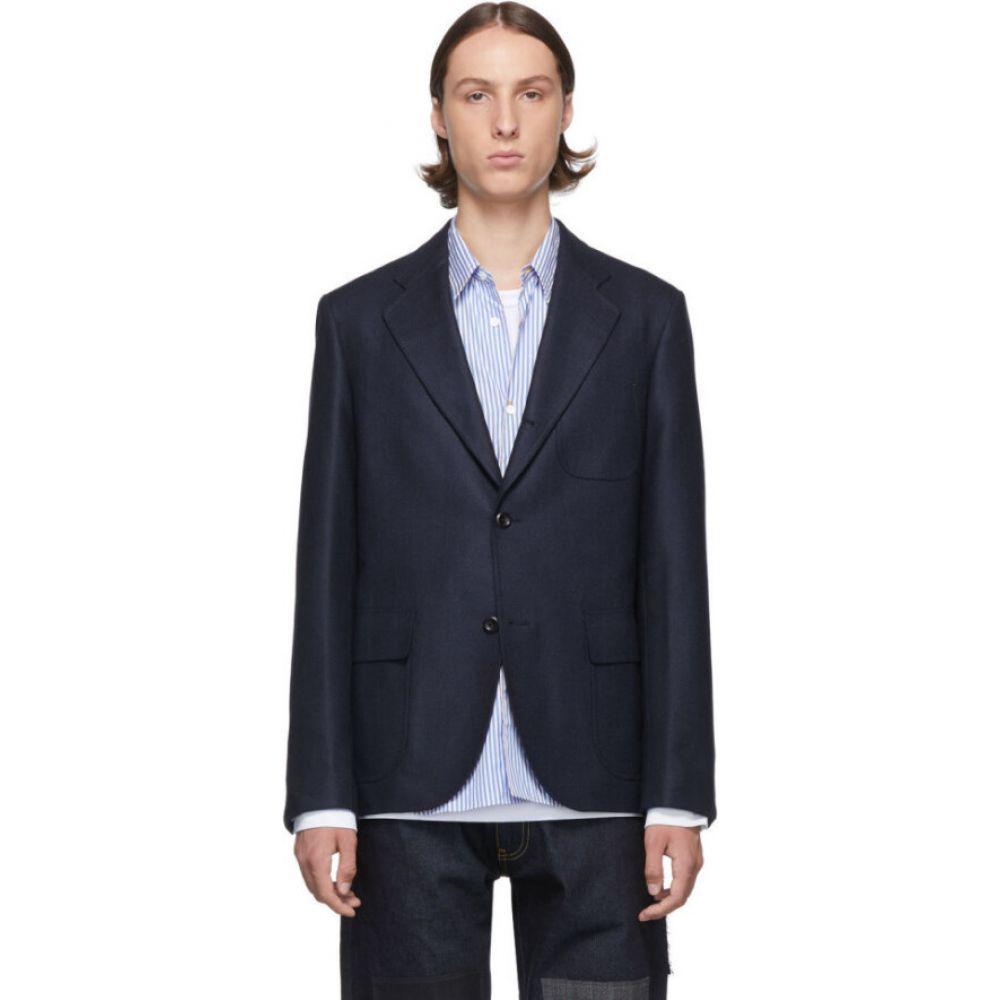 ジュンヤ ワタナベ Junya Watanabe メンズ スーツ・ジャケット アウター【navy silk & wool blazer】Navy