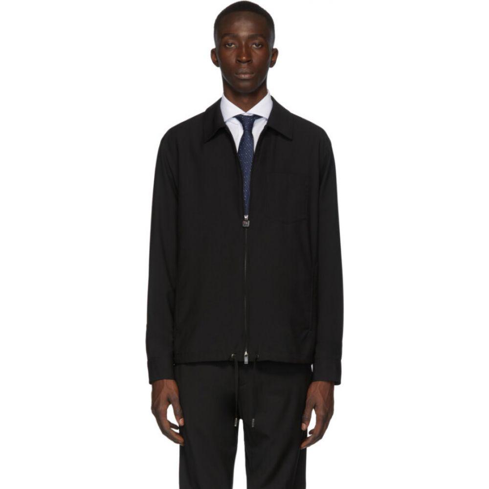 ジーゼニア Z Zegna メンズ ブルゾン アウター【black blouson jacket】Black