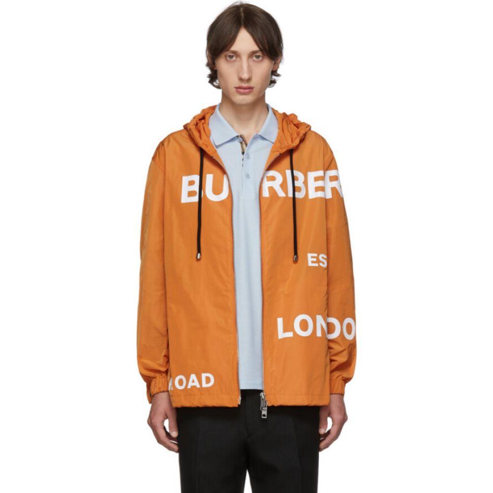 バーバリー Burberry メンズ ジャケット フード アウター【orange nylon horseferry hooded jacket】Bright orange