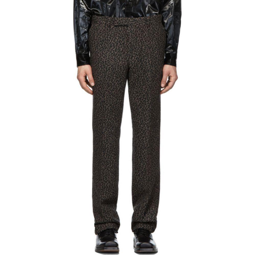 ジョン ローレンス サリバン Johnlawrencesullivan メンズ ボトムス・パンツ 【grey leopard flannel straight trousers】Grey