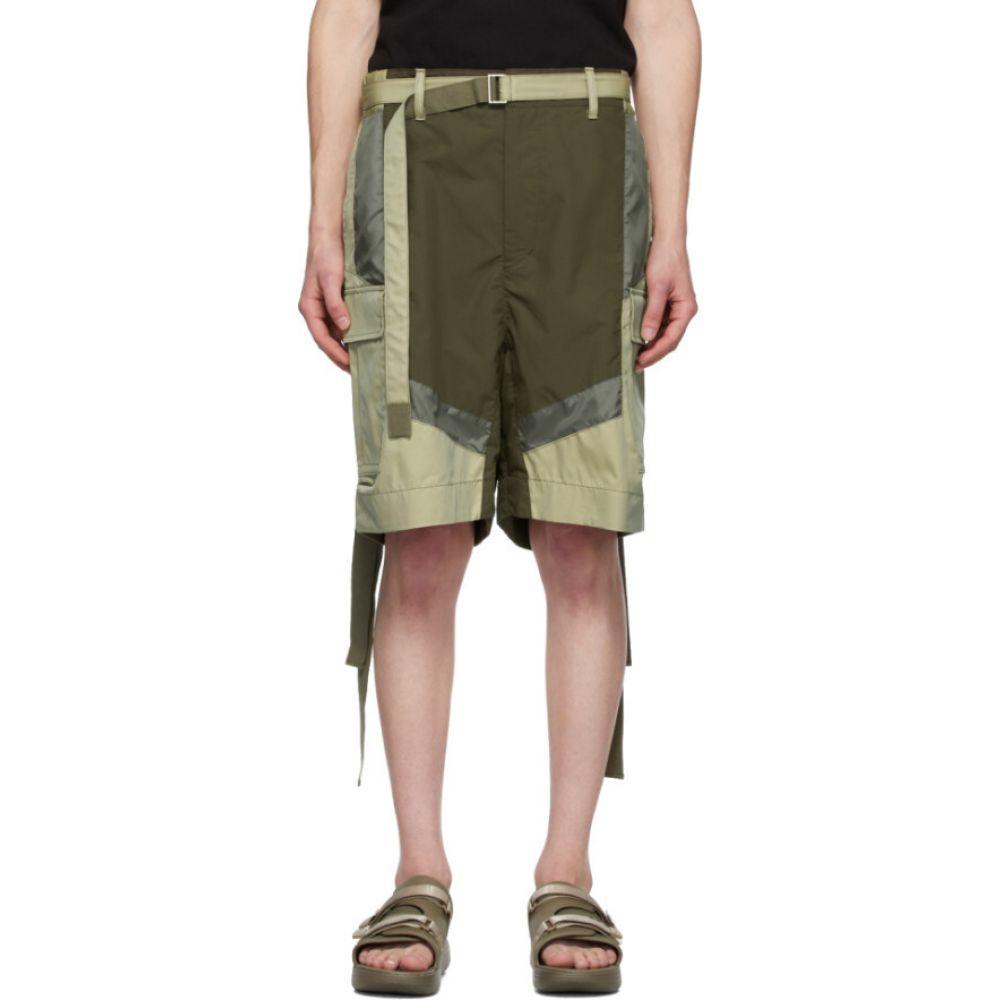 サカイ Sacai メンズ ショートパンツ ボトムス・パンツ【khaki cotton-blend shorts】Khaki