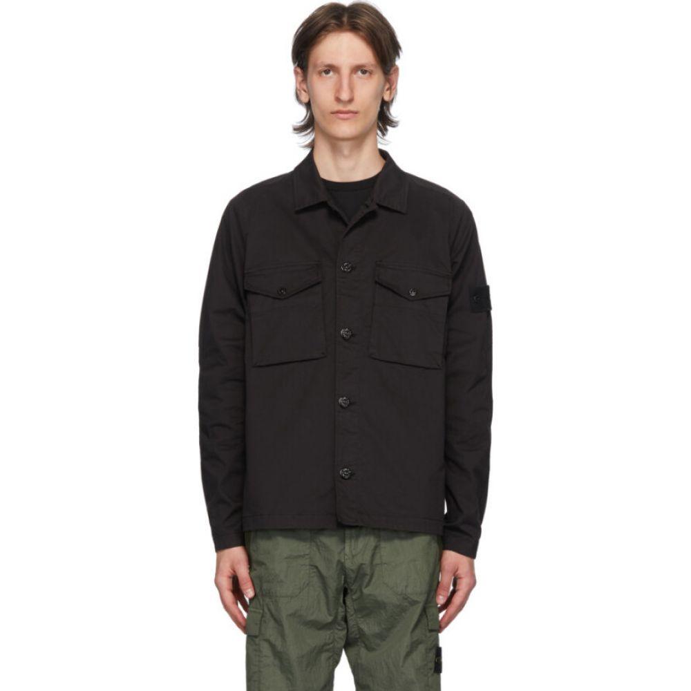 ストーンアイランド Stone Island メンズ ジャケット アウター【black button up jacket】Black