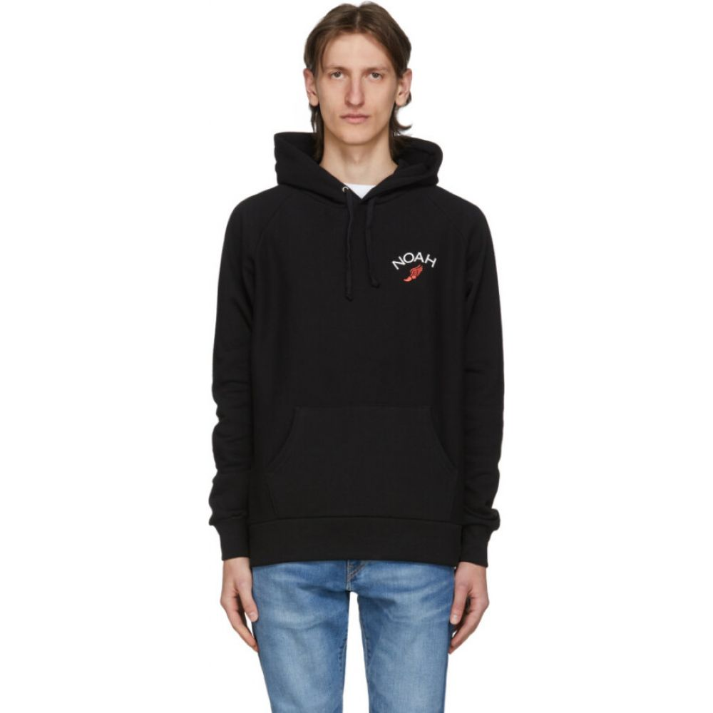 ノア Noah NYC メンズ パーカー トップス【black winged foot hoodie】Black