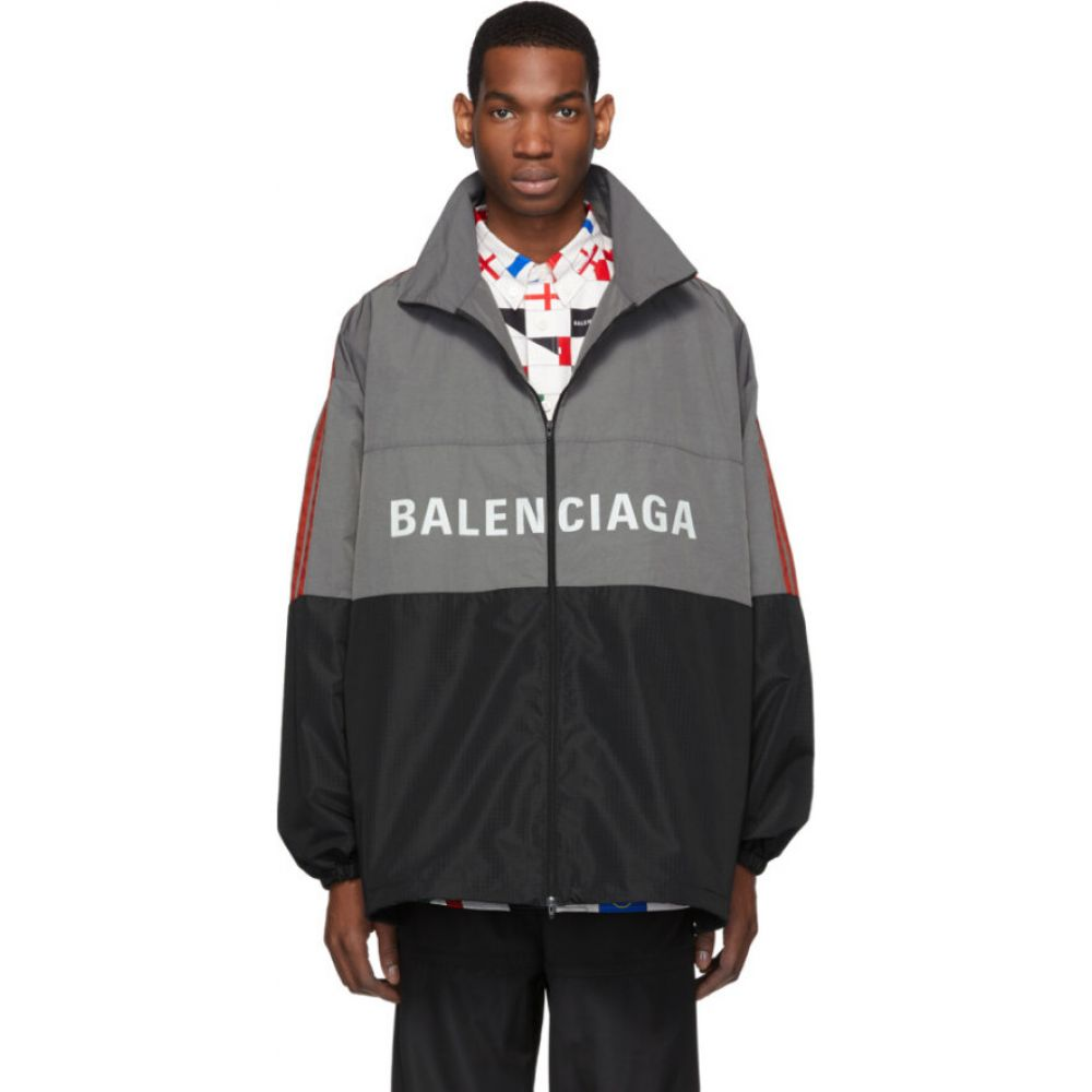 バレンシアガ Balenciaga メンズ ジャケット アウター【grey logo zip-up jacket】