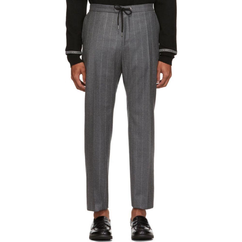 ヒューゴ ボス Boss メンズ ボトムス・パンツ 【grey banks pinstripe trousers】Grey