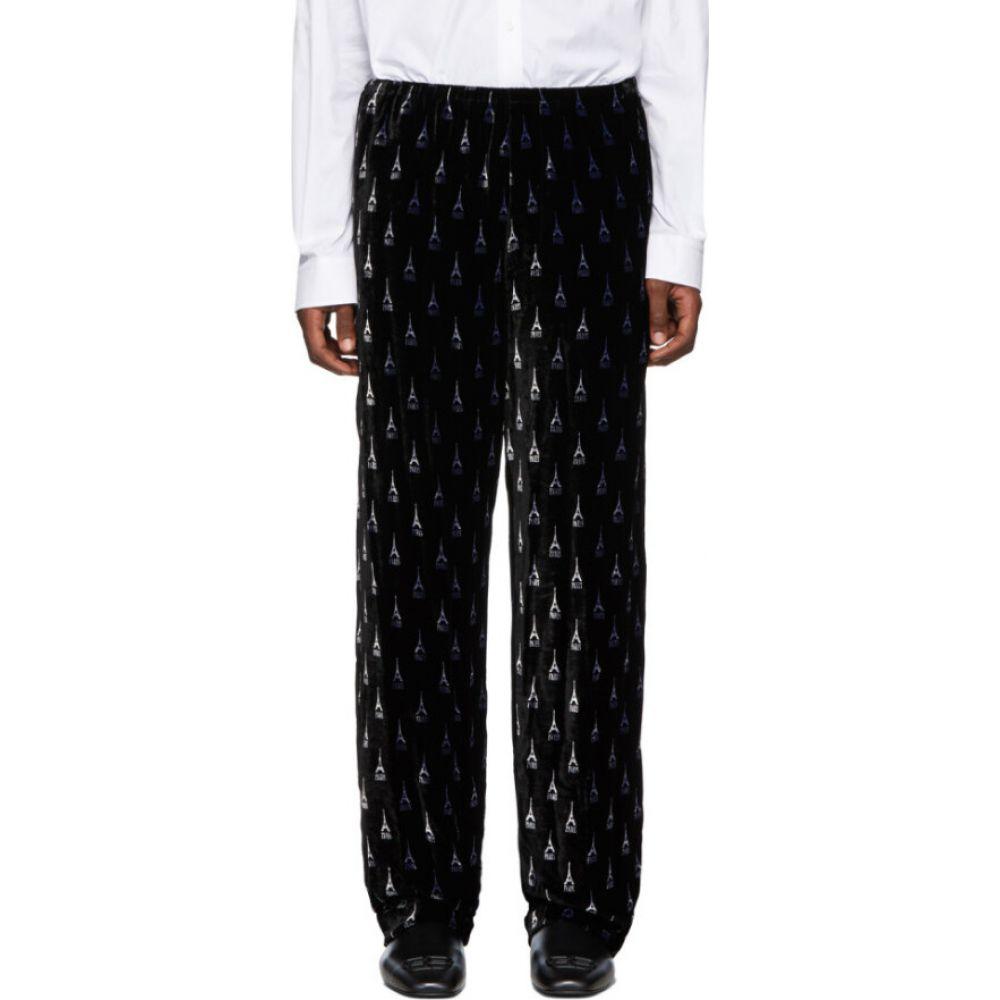 バレンシアガ Balenciaga メンズ スラックス ボトムス・パンツ【black pajama suit trousers】Black