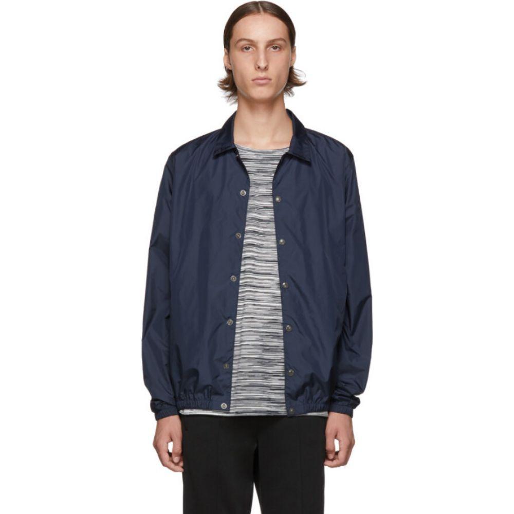 ミッソーニ Missoni メンズ ジャケット ウィンドブレーカー アウター【navy logo windbreaker jacket】Navy