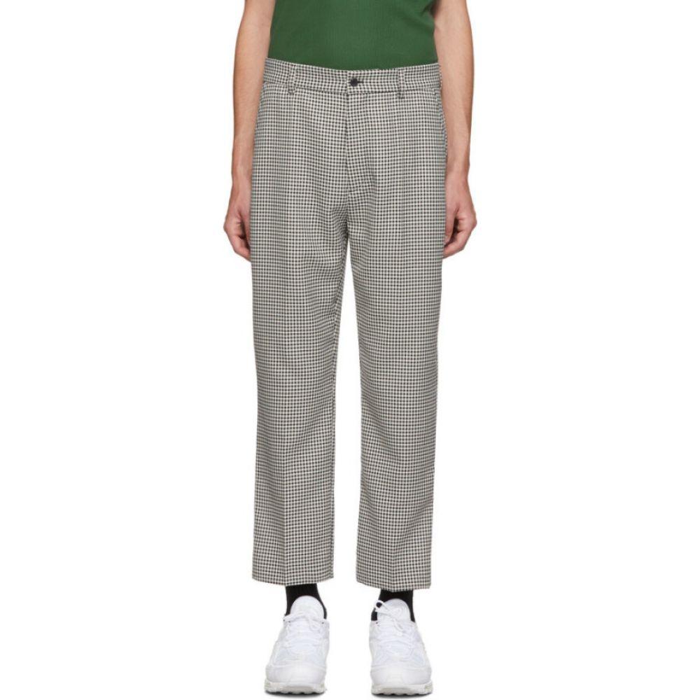 ホープ HOPE メンズ ボトムス・パンツ 【black & white pepita check trousers】Black/White