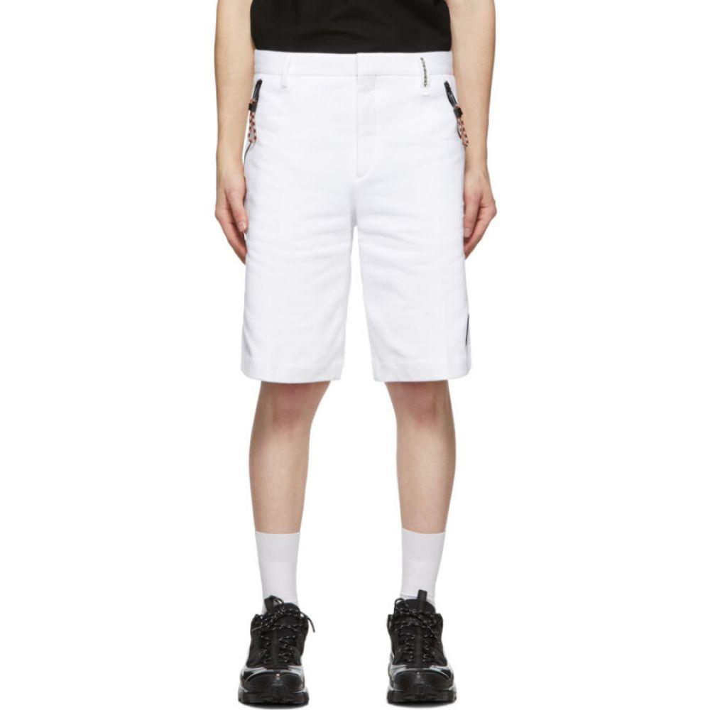 バーバリー Burberry メンズ ショートパンツ ボトムス・パンツ【white globe tailored shorts】Optic white