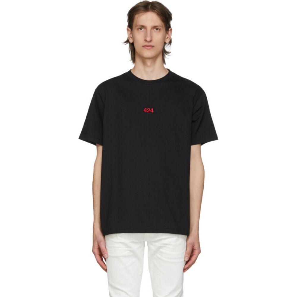 フォートゥーフォー 424 メンズ Tシャツ トップス【black logo t-shirt】Black