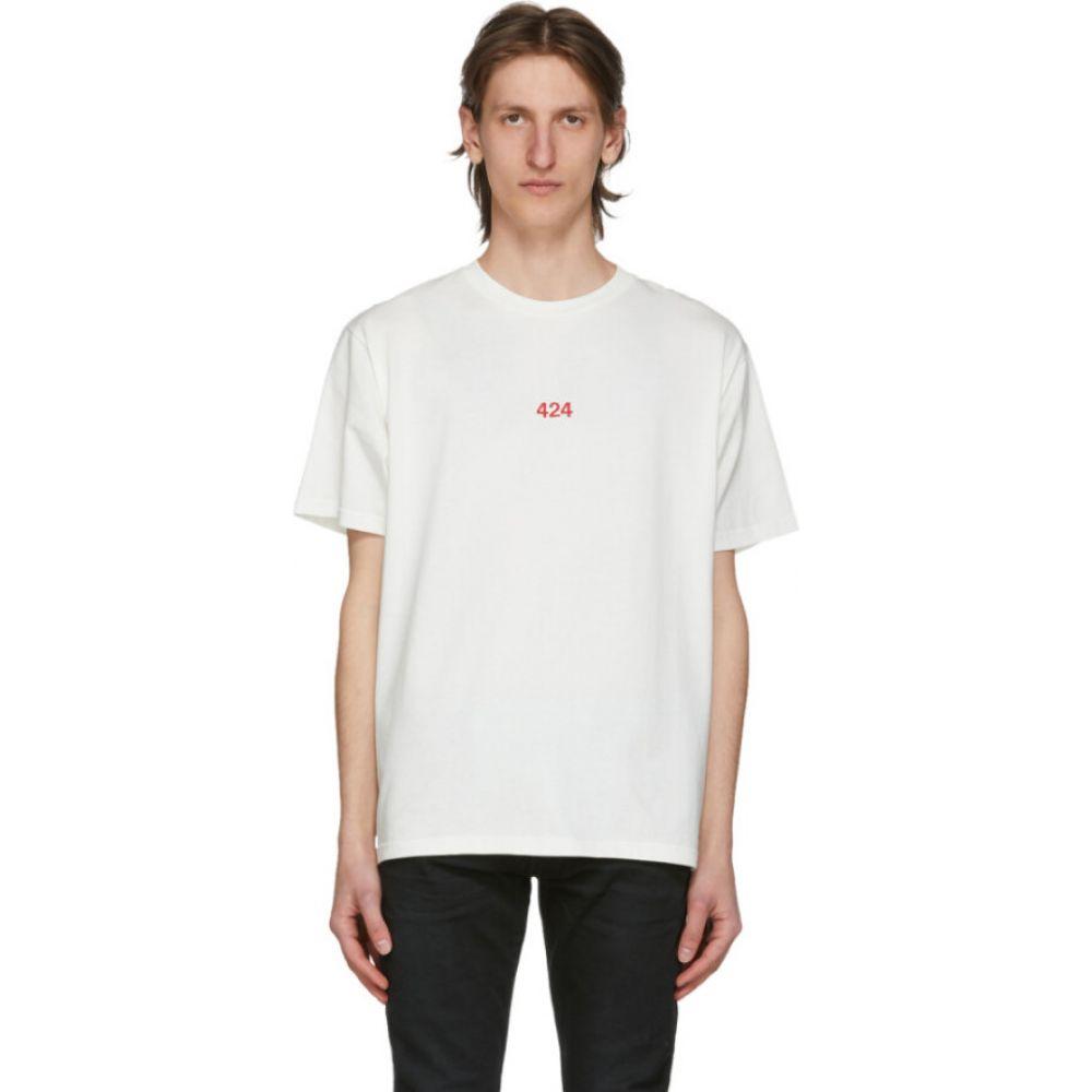 フォートゥーフォー 424 メンズ Tシャツ トップス【white logo t-shirt】White