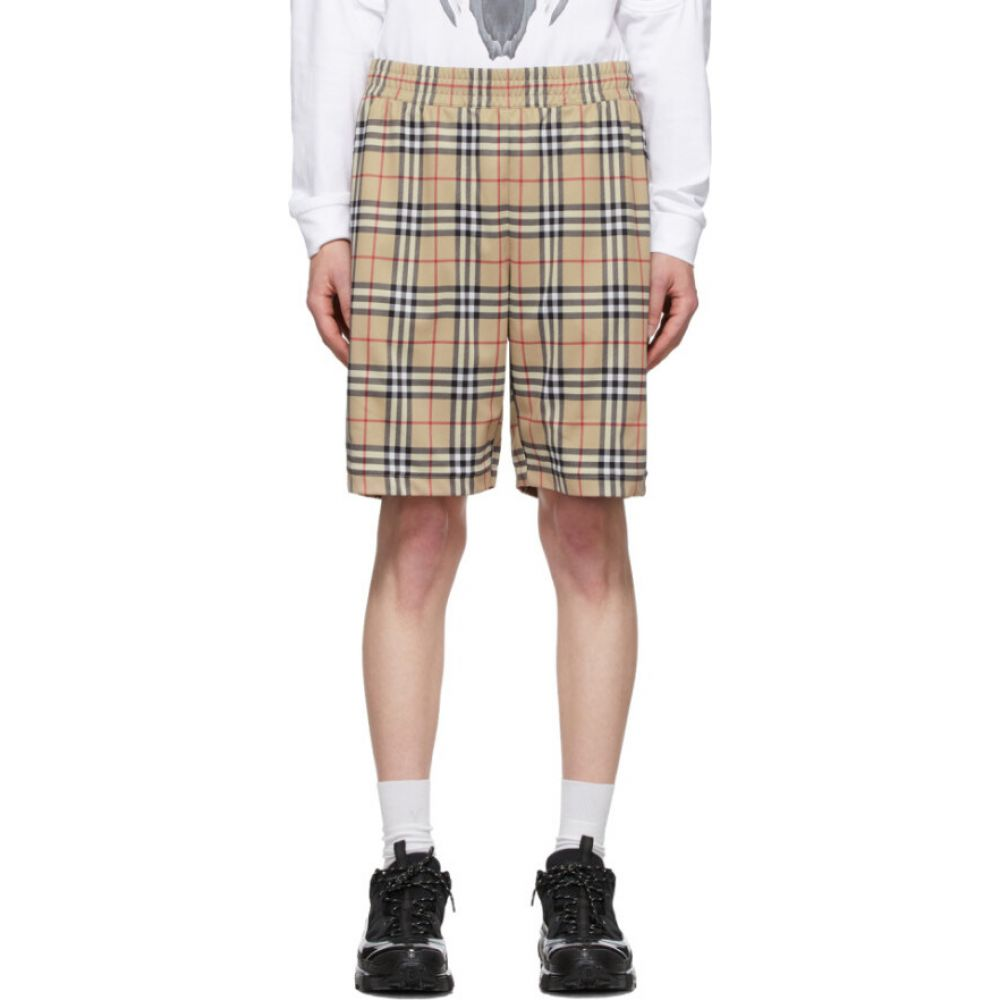 バーバリー Burberry メンズ ショートパンツ ボトムス・パンツ【beige vintage check technical twill shorts】Archive beige