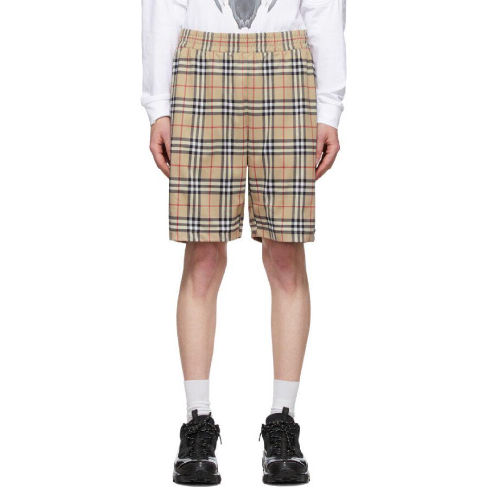 バーバリー Burberry メンズ ショートパンツ ボトムス・パンツ【beige vintage check technical twill shorts】Archive beige