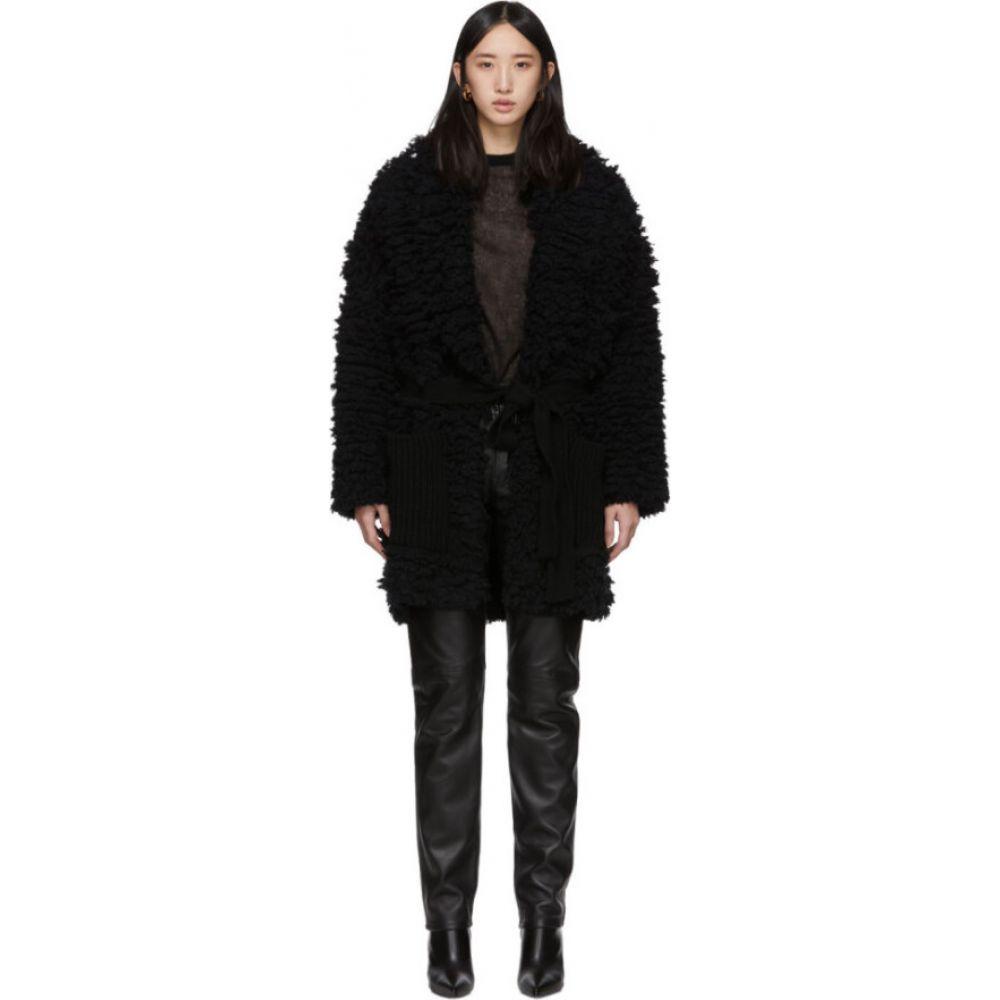 アラヌイ Alanui レディース コート アウター【black faux-fur stitches coat】Black