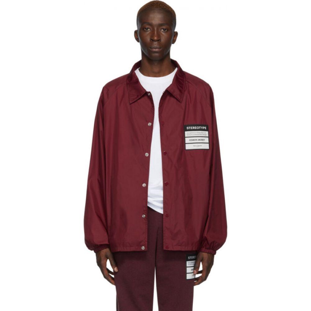 メゾン マルジェラ Maison Margiela メンズ ジャケット コーチジャケット アウター【red 'stereotype' coach jacket】Bordeaux
