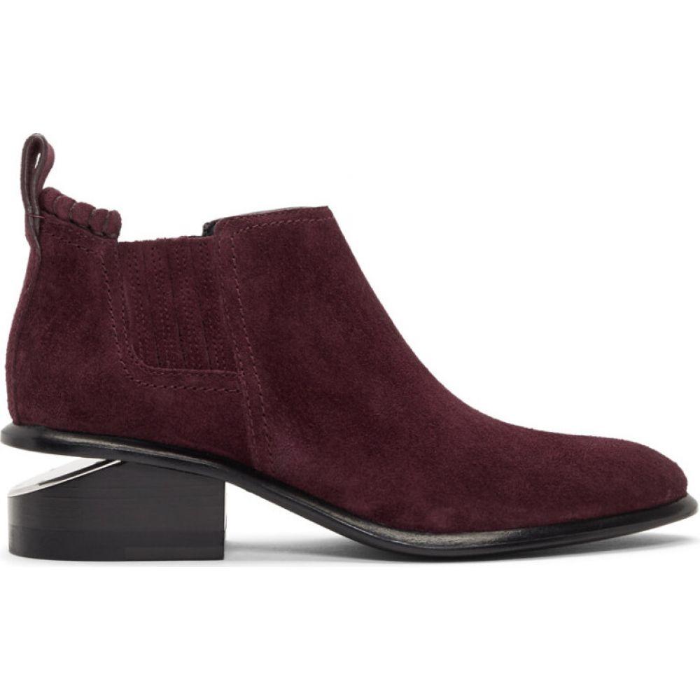 アレキサンダー ワン Alexander Wang レディース ブーツ ショートブーツ シューズ・靴【purple suede kori ankle boots】Burgundy