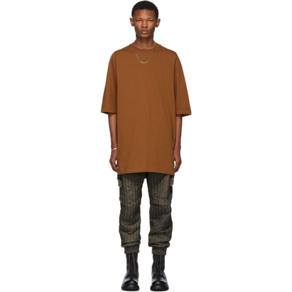 リック オウエンス Rick Owens メンズ Tシャツ トップス【tan crewneck t-shirt】Rust