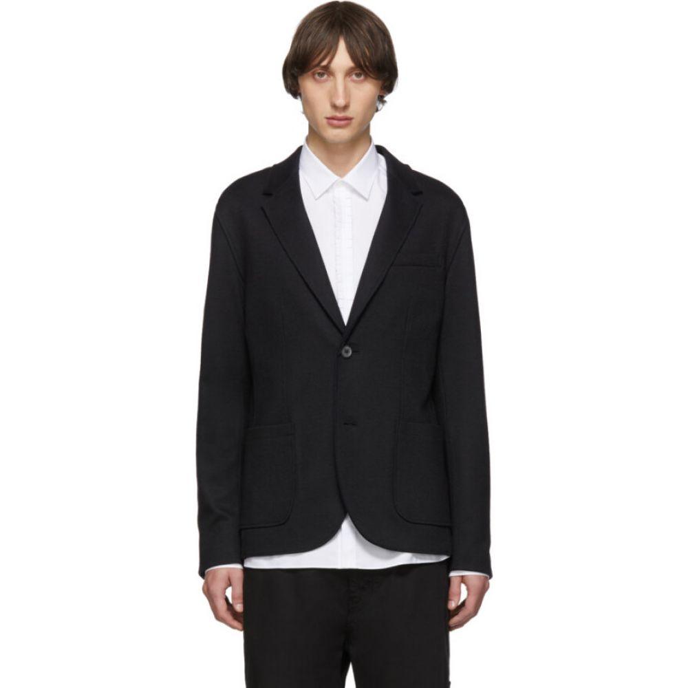 ランバン Lanvin メンズ スーツ・ジャケット アウター【black double-faced jersey blazer】Black